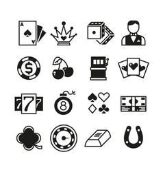 lottery roulette casino slot machine gambling vector image vector image