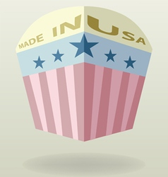 made in usa label vintage style vector image