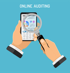 online auditing tax process accounting concept vector image vector image