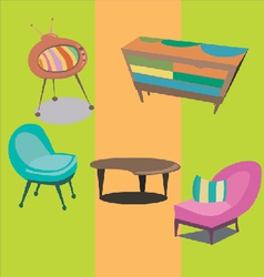 styled modern furniture vector image