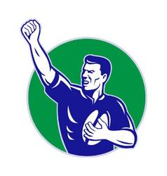 vintage rugby background vector image vector image