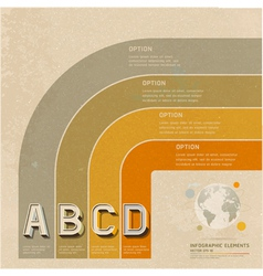 Infographic retro color options banner vector image vector image