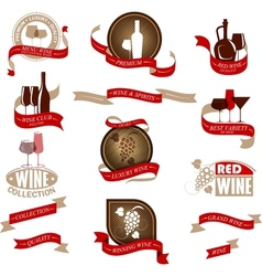 Labels set for wine vector image