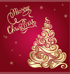 merry christmas poster template vector image vector image