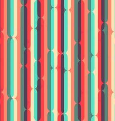 retro stripes seamless pattern vector image