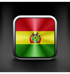 Bolivia icon flag national travel icon country vector image vector image
