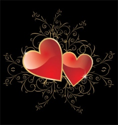 love and floral background vector image vector image