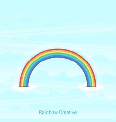 trendy rainbow creative icon design vector image