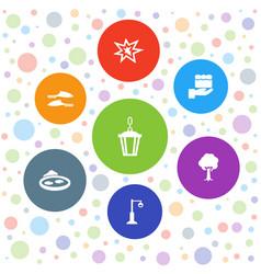 7 decorative icons vector