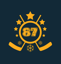 87 number vector image
