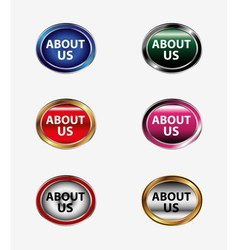 About us icon button vector