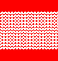 abstract pattern red net on white vector image