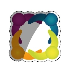 Abstract people symbol vector