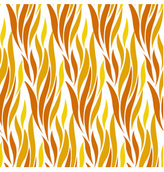 Abstract wave red and yellow seamless pattern vector
