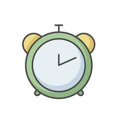 alarm clock rgb color icon vector image