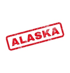 Alaska Text Rubber Stamp vector