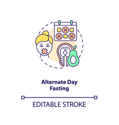 Alternate day fasting concept icon vector