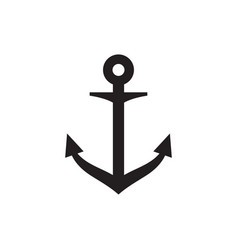 anchor icon graphic design template vector image