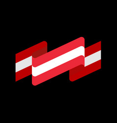 Austria flag ribbon isolated austrian banner tape vector