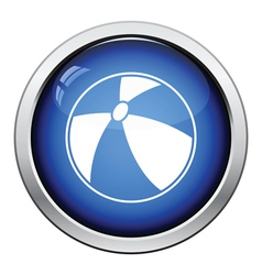 Baby rubber ball icon vector image