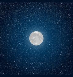 Background Starry night sky Star Moon vector
