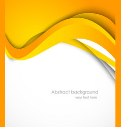 Background with orange wave vector image