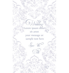 baroque ornamented card victorian royal vector image
