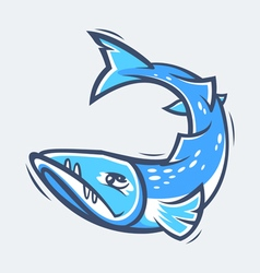 Barracuda sea life vector image