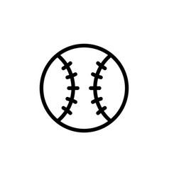 Baseball ball line art icon vector