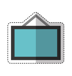 Board hanging isolated icon vector