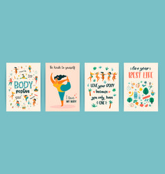body positive templates happy plus size vector image
