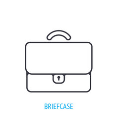 briefcase for documents outline icon vector image