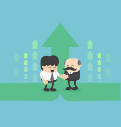 business partners businessman hand shaking vector image
