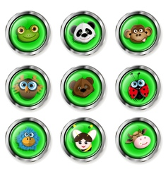 Cartoon animal icons vector image