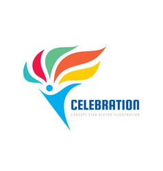 celebration development - concept logo template vector image