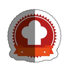 chef hat menu restaurant vector image