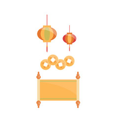 chinese traditional decoration set - cartoon vector image