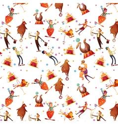 Circus Seamless Decorative Retro Cartoon Pattern vector