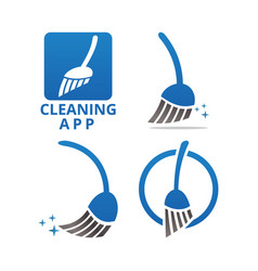 cleaning service logo design template vector image
