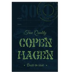 copenhagen true quality clothing tag vector image