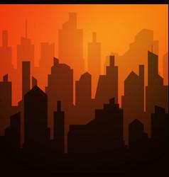 daytime cityscape night city skyline landscape vector image