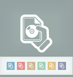 download button icon vector image
