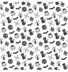 dracula moon and bathalloween seamless pattern vector image
