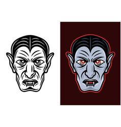 dracula vampire two styles vector image