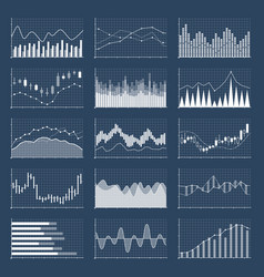 Financial candle stick graphs currency business vector