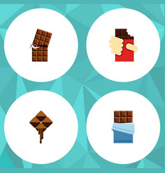 flat icon bitter set of wrapper shaped box vector image