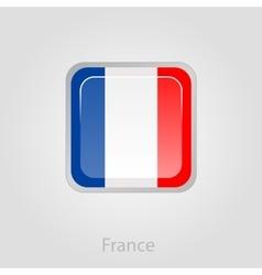 France flag button vector