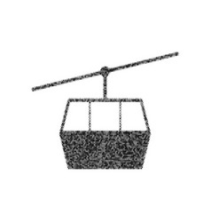 Funicular cable car sign black icon from vector