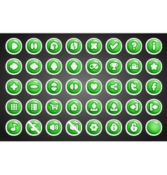 Game buttons in cartoon style vector image