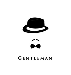 Gentleman on white background vector